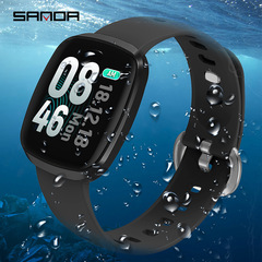 GT103 color screen smart bracelet touch screen heart rate sleep health monitoring sports watch black one size