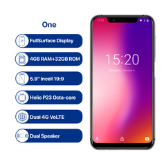 Umidigi One 4+32GB multi-function smartphones aurora