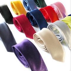 MIBO Leisure Korean Style Narrow Tie 5cm Colorful Fashion Students Tie Group Tie Men Women Tie No.1 142*5cm