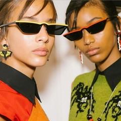 MIBO 2018 Western New Style Women's Small Frame Sunglasses Fashion Trend Anti-ultraviolet Glasses no.1 yellow ordinary
