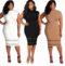 MIBO Hot Selling Sexy Large Size Women's Clothing Fat Woman Dress Pure Color Mesh Yarn Splice Skirt 5XL black