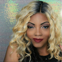 MIBO European-American-African Fashion Grey Fiber Wigs with Short Curls Hair Wigs pic color short