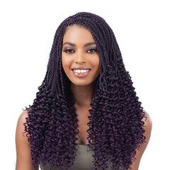 MIBO Black Women Hair Pick-up Black Hand-woven Hair Curl Synthetic Hair Braids Soft Dread Lock 1BT33# general