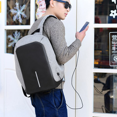 MIBO Multi-functional Charging Travel Anti Theft Backpack Leisure Fashion Simple Student Bag black 43*26*11cm