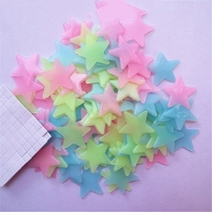 MIBO Noctilucent Stars Light Wall Stickers Night Glow Kids Room Decoration Plastic Luminous Stickers colorful 3cm