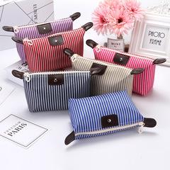 MIBO Striped Dumplings Make-up Bag Folding Waterproof Cosmetic Bag Lady Travel Bath Bag rose