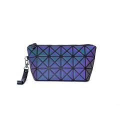 MIBO Ladies Cosmetic Bag Geometric Rhombus Noctilucent Makeup Bag Night-luminous Travel Bag