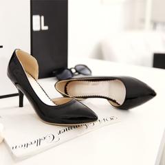 MIBO Women's Stiletto High Heel Pointed Toe Dress Pumps Low Cut Slip On Shoes black 34