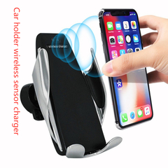 2019 Automatic Wireless Charger Car Mount for Iphone Android Phone Holder 360degree Charging Bracket Black universal