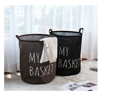 MIBO Dirty Clothes Basket Large Waterproof Folding Laundry Oxford Cloth Collection Bucket Arrow Yellow-Big(40*50cm)