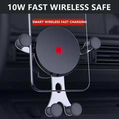 Wireless Car Charger Mount Fast Charging Air Vent Gravity Phone Holder for iPhone 10W