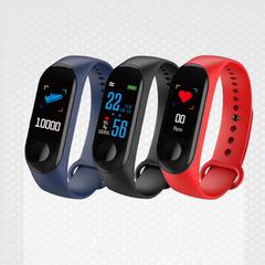 2019 Mobile Week New LED Smart Bracelet Bluetooth Heart Rate Digital Watches For Men&LadiesΧld black M3plus