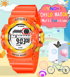 MIBO children's electronic watch waterproof fall-proof primary school watches boys and girls gifts orange as pic