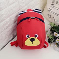 MIBO Cartoon Backpacks Kindergarten Boys and Girls 2-5 Years Old Baby Schoolbag red