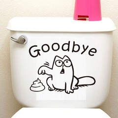 MIBO Goodbey Toilet Stickers Toilet Decorative Wall Stickers
