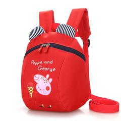 MIBO Children's Baby Shoulder Bag 1-5-year-old Children Lost Backpack Cute Cartoon Children Backpack red