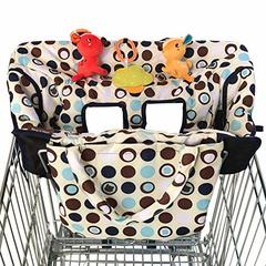 Shopping Cart Cover for Baby or Toddler | 2-in-1 High Chair Cover | Universal Fit for Boy or Girl as pic universal