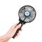Portable mini USB fan ventilated foldable air conditioning fan handheld cooling fan rechargeable fan black