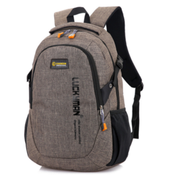 2018 New Fashion Men's Backpack Male Computer Bags high school student college students bag brown 30×15×50cm