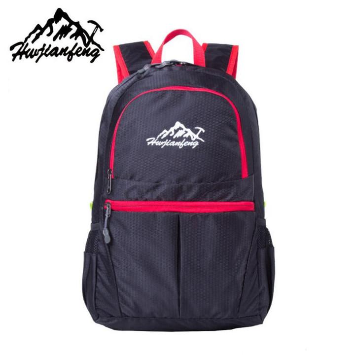 Outdoor Sports bag Travel Camping Backpacks Portable Lightweight BackPack  Waterproof Folding Bag black 30.8x21. 330d271211984
