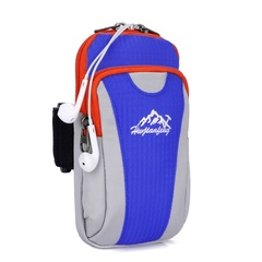 Adjustable Mini Arm Bags for Phone Money Keys Outdoor Lightweight Sports Bags navy blue 9×17×4 cm