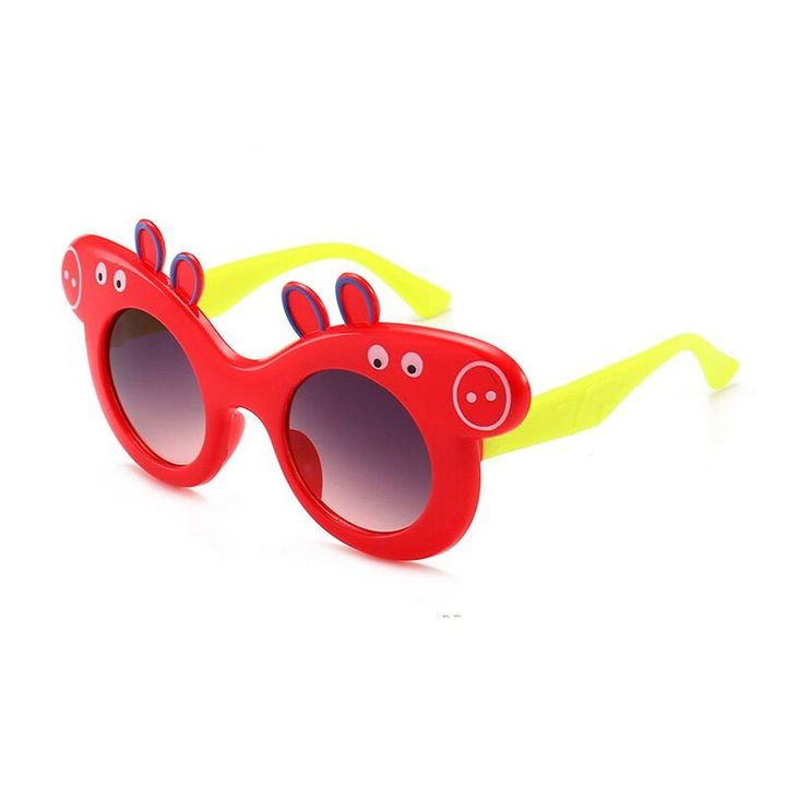 Baby Boy Girl Glasses Sunglasses Peppa Pig Anti Ultraviolet Polarizing Sunglasses Cool Children Red Normal