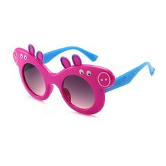 Baby boy girl glasses sunglasses peppa pig anti ultraviolet polarizing sunglasses cool children violet normal