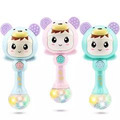 baby toy music rhythm bar light music grip training grinding gums instrumentalist model sand hammer green normal
