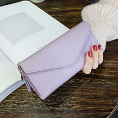 Women Wallets high quality PU Leather Long Fashion Designer Lady Party Wallet Female Card Holder purple onesize