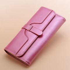 Women's Wallet High Quality Fashion Big Capacity Ladies Pink Wallet dark pink onesize