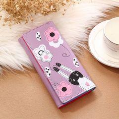 Women's Wallet High Quality Pink Ladies Cute Wallet Fashion Design purple onesize