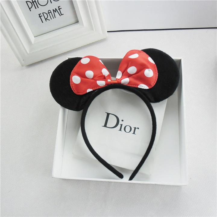 Girls Boys Bow Minnie Mickey Baby Hair Accessories Ladies Headband Kids Christmas Hairband Birthday pic2