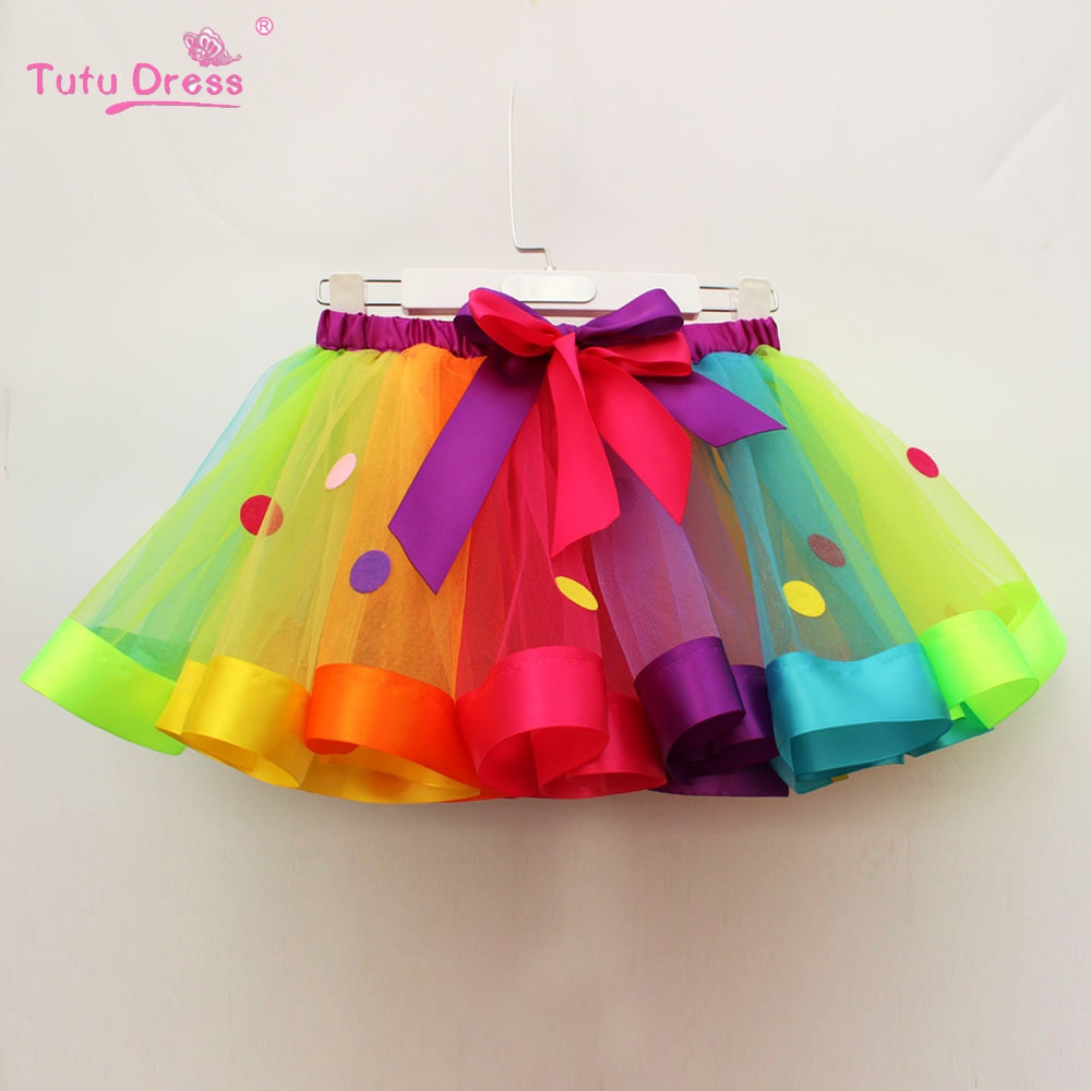 3297103198d2 Girl s Ballet Skirt Rainbow Tutu Skirt Toddlers Baby Stage Party ...