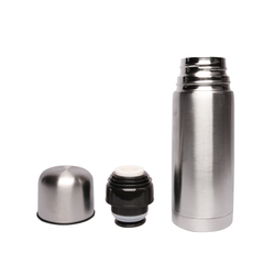 Sundabests High Quality Stainless Steel Vacuum Thermos Bullet Thermal Water Bottle 350ml silver 350mL