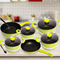 Sundabests 10pcs High Quality  Non-stick Cookware High Sauce Pot Set(130008069) as the picture 10pcs