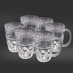 Sundabests 6pcs High Quality Glass  Glassware 300ml(7710) transparent one size