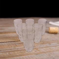 Sundabests 6pcs High Quality Spiral Glass Glassware Cup 390ml(130007485) transparent one size