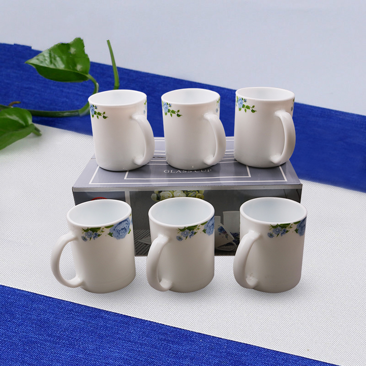 Sundabests 6pcs High Quality Tea Milk Coffee Ceramic Cups 300ml(130008880) as the picture one size