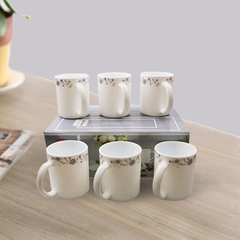 Sundabests 6pcs 350ml​ High Quality Tea Milk Coffee Ceramic Cups(8881) as the picture 6pcs