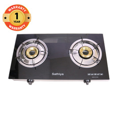 Sathiya High Quality Exquisite Kitchen Wares Double Burner Gas Stove black one size