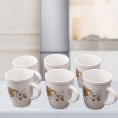 Sundabests 6pcs 350ml​ High Quality Tea Milk Coffee Ceramic Cups as the picture 6pcs