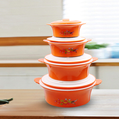 Sundabests 4pcs High Quality Insulated Casserole Hot Pot Serving Bowls(5542) random 4 pcs