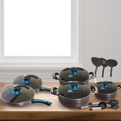 Sundabests 16pcs High Quality Cookware Set(Cookware16) as the picture 16pcs