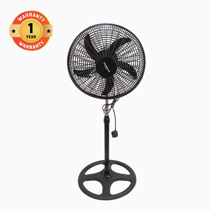 """COURONNE Stand Fan 18"""" Powerful and Quiet , 3-Speed, Household Fan air conditioner(YH-18Ai) black"""
