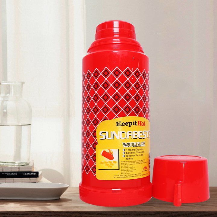 (Special Price) SUNDABESTS 1.0L New Vacuum Flask Thermoses Insulation pot(130000860) red 1.0L