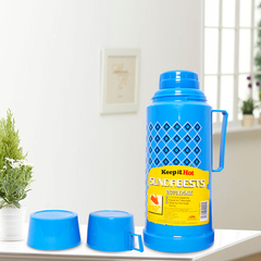 (Special Price) SUNDABESTS 1.0L New Vacuum Flask Thermoses Insulation pot(130000860) blue 1.0L