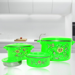 Sundabests 4pcs High Quality Hot Pot Serving Bowls Stainless Steel Inner(130007301) green 4 pcs