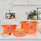 Sundabests 4pcs High Quality Hot Pot Serving Bowls Stainless Steel Inner(130007301) orange 4 pcs