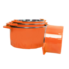 Sundabests 4pcs High Quality Hot Pot Serving Bowls Stainless Steel Inner Casserole(130008042 ) orange 4 pcs