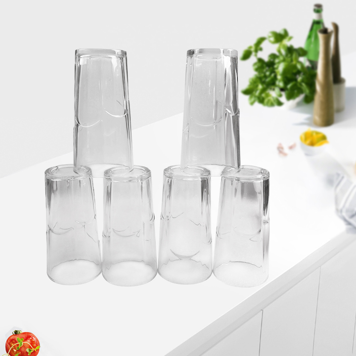 Sundabests 6pcs Glass 450ml Round High Quality Glass Glassware(130001090) as the picture 6pcs